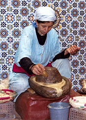 Grinding Argan Nuts