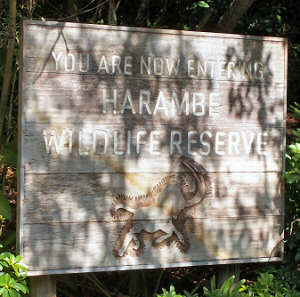 Harambe Wildlife Preserve Sign